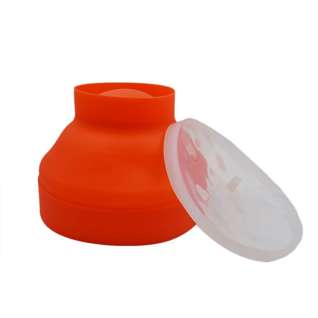 SunnyClover Popcorn Maker Popcorn Bowl Silicone Popcorn Maker Collapsible Popcorn Maker Microwave Popcorn Maker for Home Red