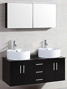 Concept Usine 2037.0 Ambre Ensemble de Meuble/2 Vasques/1 Miroir ...