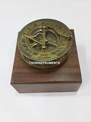 THORINSTRUMENTS (with device) Solid Brass Nautical Astrolabe Working Sundial Compass Maritime Marine Home Decor by THORINSTRUMENTS (with device)