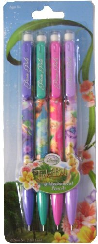 Tinker Bell and Disney Fairies Pixie Pals Mechanical Pencils 4 to a Pack