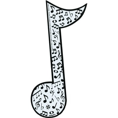 High School Musical Magnet - Gift House Note Mag Music Notes (Measures 8 inches high by 4.5 inches Wide)