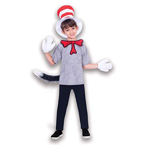 Cat in The Hat The Accessory Set - One Size - Fancy Dress World Book Day ()
