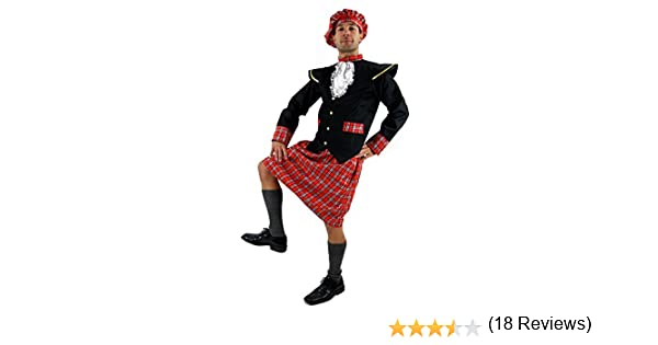 DRESS ME UP - K37/56 Disfraz escocés kilt Braveheart Highlander ...