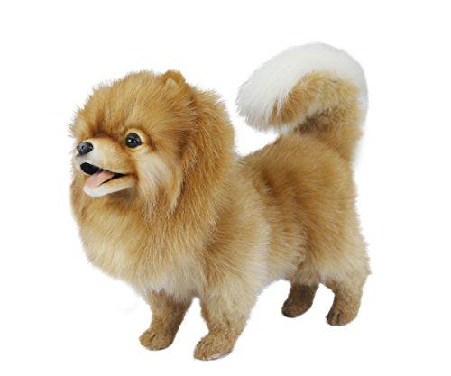Hansa Pomeranian Dog Standing Plush Dog from Hansa