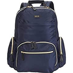 """Chic yet sophisticated, the silky nylon """"Sophie"""" women's 15.0-inch laptop backpack from Kenneth Cole Reaction will have you traveling in style. Packed with features including a spacious fully lined interior, padded laptop pocket that holds mo..."""