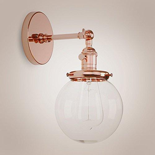 Blown Glass Globe Pendant Light - 5
