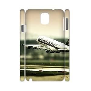 3D Vinceryshop Plane Samsung Galaxy Note 3 Case Airplane Landing Cute for Girls, Samsung Galaxy Note3 Case, {White} by ruishername