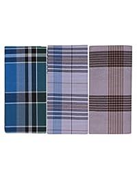 JISB Cotton Checks Lungi,2 Mtr length, 3 Piece pack