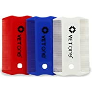 Vet One Flea & Lice Comb 3 Pack Red White & Blue (one of each)