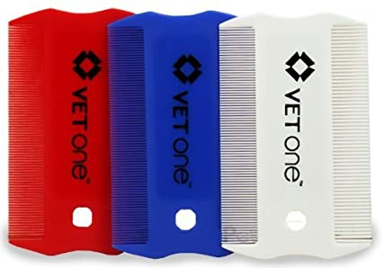 Amazon com : Vet One Flea & Lice Comb 3 Pack Red White