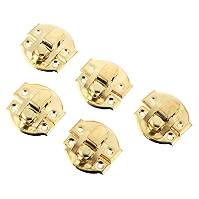 10Pcs Antique Gold Box Hasps Iron Lock Catch Latches For Jewelry Chest Box Suitcase Buckle Clip Clasp Vintage Hardware 2729Mm 1-