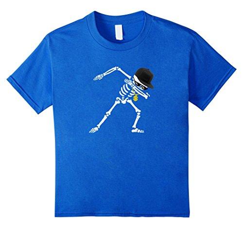 Kids Dabbing Skeleton Shirt Funny Thug Halloween Dab Dance Gift 6 Royal (A Thug For Halloween)