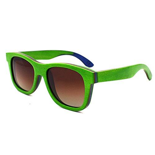 en adulte Green de soleil brown bois Style Rimmed couleur de unisexe UV400 Coloré KOMEISHO lentille protection Couleur Handcraft lunettes Orange pour rétro RqpxWtAT4w