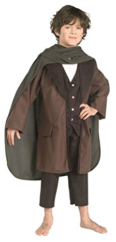 Boys Frodo Kids Child Fancy Dress Party Halloween Costume, L (12-14) (Hobbit Costume Toddler)
