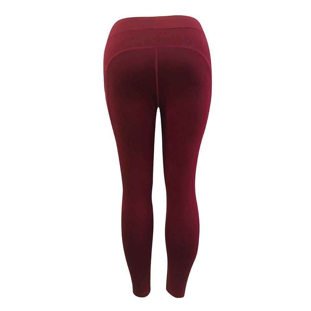 d26fe0174f2 CieKen Women s Yoga Pants Workout Running Tummy Control Stretch Power Long Capris  Leggings