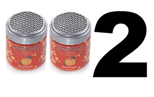 Pumpkin Home Fragrance - Yankee Candle Spiced Pumpkin Home Fragrance Spheres Odor Neutralizing Beads (Set of Two - 6oz Each)