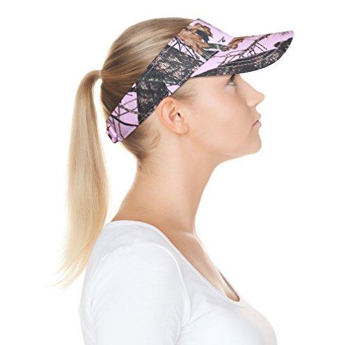 Mossy Oak Pink Camo Visor Cap, Adjustable OSFM