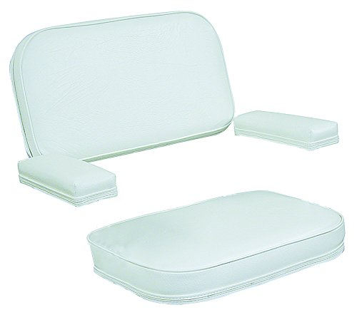 Wise 120AB Series Deck Chair Replacement Cushions and Arm Pads, White