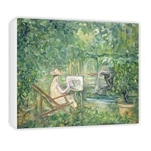 Woman Painting in a Landscape, 1900-10 (oil.. - Canvas - Medium - 30x45cm