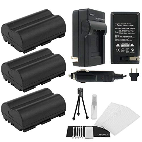 (UltraPro 3-Pack of BP-512 High-Capacity Replacement Batteries with Rapid Travel Charger for Select Canon Digital Cameras)