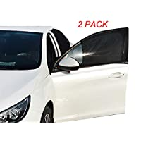 Greenery-GRE 2 Pack Car Window Sun Shade Breathable Mesh Car Front Rear Side Window Sunshade for Baby Kids and Pets Car Curtains Fit for Most Cars Truck SUV