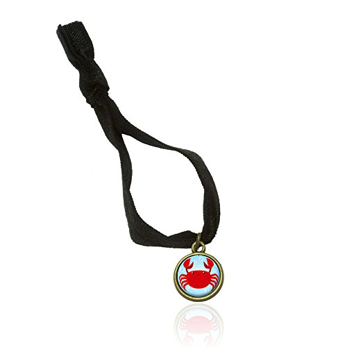(Cute Crab No Crease Stretchy Elastic Fold Over Hair Tie and Charm)
