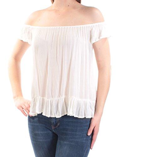 02356add43d8da RALPH LAUREN Denim   Supply Womens Crinkled Off-The-Shoulder Casual Top M