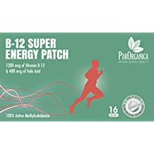 #❶ BEST VALUE Vitamin B12 Super Energy Patch - 16 Transdermal Patches - up to 4 Months Supply - 1200 mcg Methylcobalamin & 400 mcg Folic Acid - Better than Shots and Pills - Customer Satisfaction or RISK FREE 100% Lifetime Money Back Guarantee