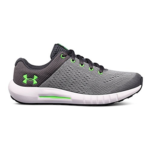 Under Armour Boys' Pre School Pursuit Sneaker, Steel (103)/White, 1