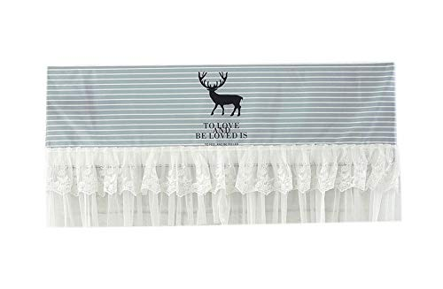 Gentle Meow Home Restaurant Dustproof Air Conditioner Cover, Fawn and - Fawn Stripes