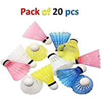 Victall Nylon Coloured Plastic Shuttle Cock Pack of 20 for Kids and Practice ONLY