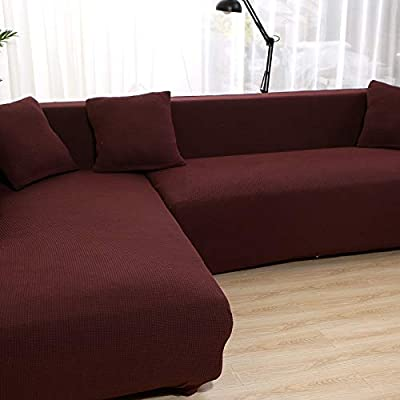 Kfgspe Sofa Cover Velvet Corner Sofa Covers For Living Room Solid Sectional Sofa Cover Elastic Thick Couch Cover Plush Sofa Slipcover Buy Online At Best Price In Uae Amazon Ae