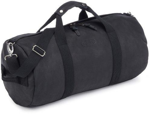 Eastpak Reisetasche ROLL, Black Leather, 49 x 25 x 25