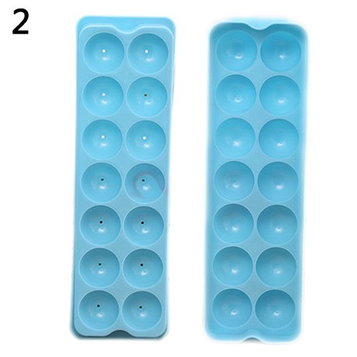 Jeakmo Easy-Release Silicone Ice Ball Cube Tray Freeze Mould Bar Jelly Pudding Chocolate Mold Maker Baking Dessert Tool Reusable Bakeware Size 2
