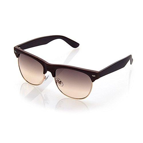 NYS Collection Malcom X Blvd Vintage Sunglasses, Dark Brown Frame/Brown - Sunglasses X Malcolm