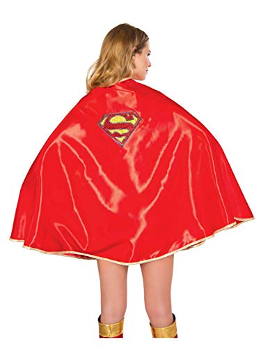 Rubie's DC Comics Supergirl Adult Deluxe 30-Inch Cape, As Shown, One Size -