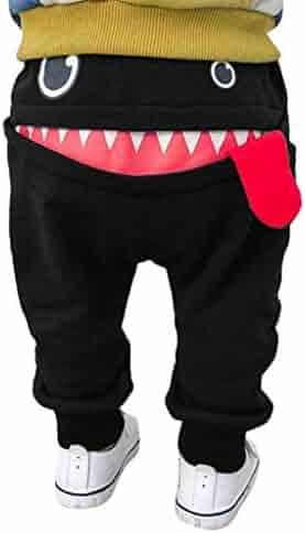 c37a6c57e7ea NAYI Trousers Pants Baby Children Kids Boys Girls Cartoon Shark Tongue  Harem Pants