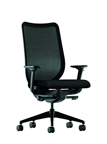 HON Nucleus Mesh Task Chair – Knit Mesh Back Computer Chair with Adjustable Arms, Black (HN1)
