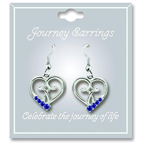 (Cathedral Art JE109 September Sapphire Birthstone Earrings)