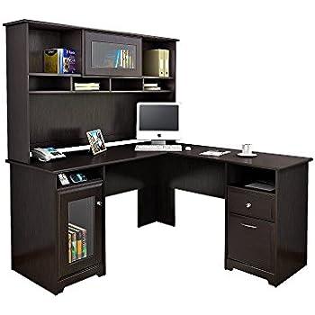 Genial Bush Furniture Cabot L Shaped Desk With Hutch In Espresso Oak