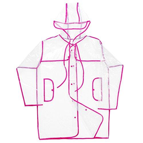 Donna Sportivo Di Campeggio impermeabili Giacche Cappotto Pioggia Uomo Generic Ciclismo Trasparente Rosa Abbigliamento Trasparente gwUdqgR