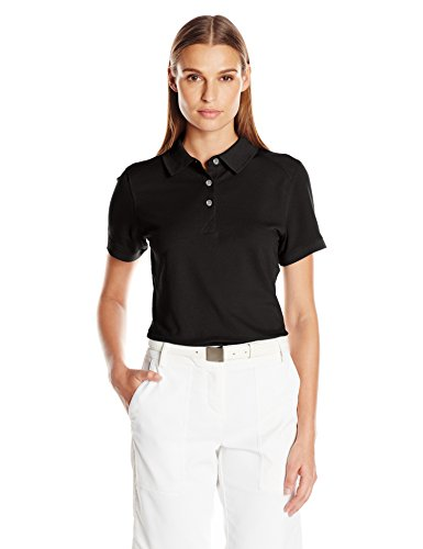 Cutter & Buck Women's Cb Drytec Cotton+ Advantage Polo, Black, XL