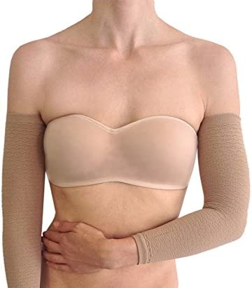 Anti cellulite arm sleeves with compression