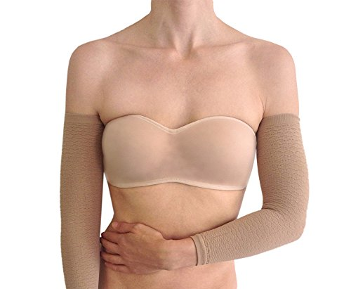 f961a47edc Bioflect® FIR Therapy Micromassage Anti Cellulite Compression Slimming Arm  Sleeves (Beige)