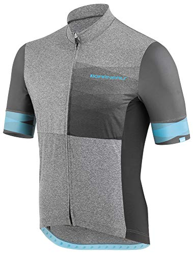 Louis Garneau Men's Equipe 2 Lightweight, Short Sleeve, Full Zip Cycling Jersey, Neo-Classic, - Cycling Equipe Short Sleeve Jersey