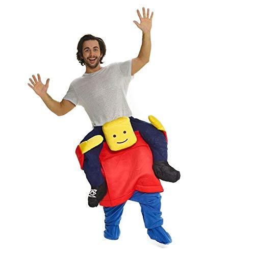 Piggyback Ride Me Ride On Piggy Back Costume with Self Fill Legs Halloween Party (Blockhead Carry me)]()