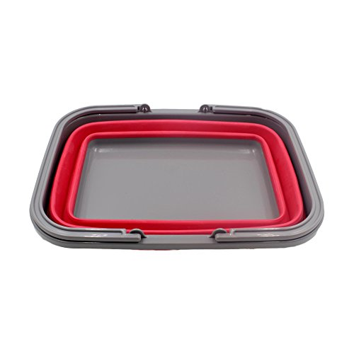 Collapsible Shopping Basket - Red lzYAveVs