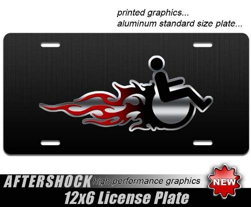 (Fx4 Tags Handicap License Plate Handicapped Hot Rod Flames Tag Skulls Ram Off From Skull 6 Titan Ford Accessories Cover Aftershock Wheelchair Chevy For Road Car Mount Wheelchairs Ramps Colorado)