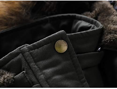Xinheo Lungo Pelliccia Velluto Giù Più Cofano Lavato Di Del Cappotto Solido Di Metà Colore Donne Collo Verde IHqdwpvfI