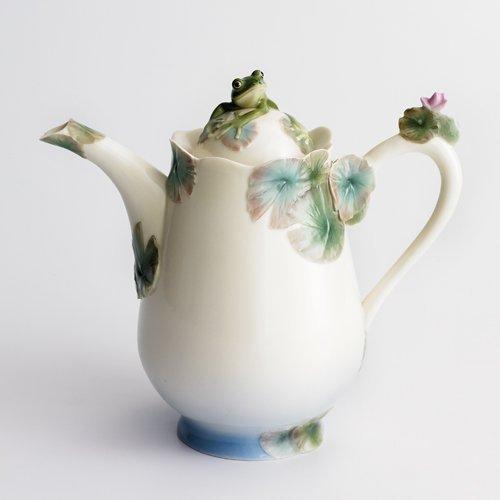 Franz Amphibia Frog Teapot -